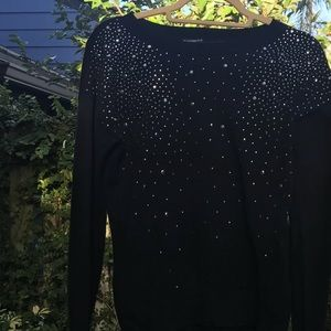 Express NWT Black Adorned Sweater
